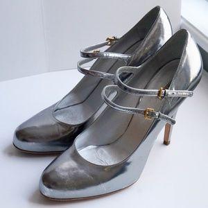 Silver Miu Miu Mary Jane's